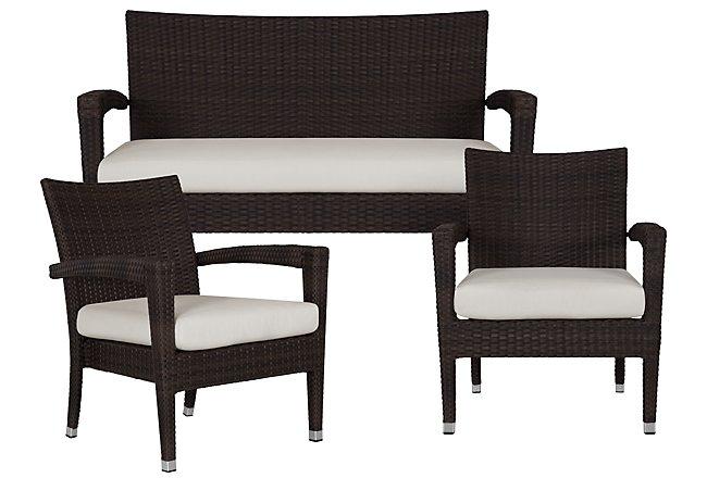 Zen White Outdoor Living Room Set | Outdoor - Living Room ... on Patio Living Room Set id=94396