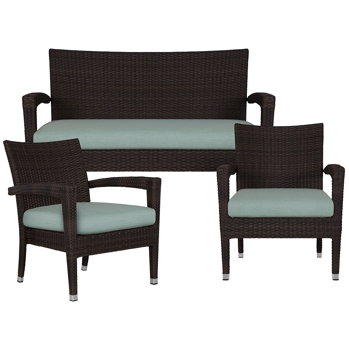 Zen Teal Outdoor Living Room Set