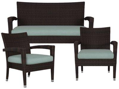 High Quality Zen Teal Outdoor Living Room Set