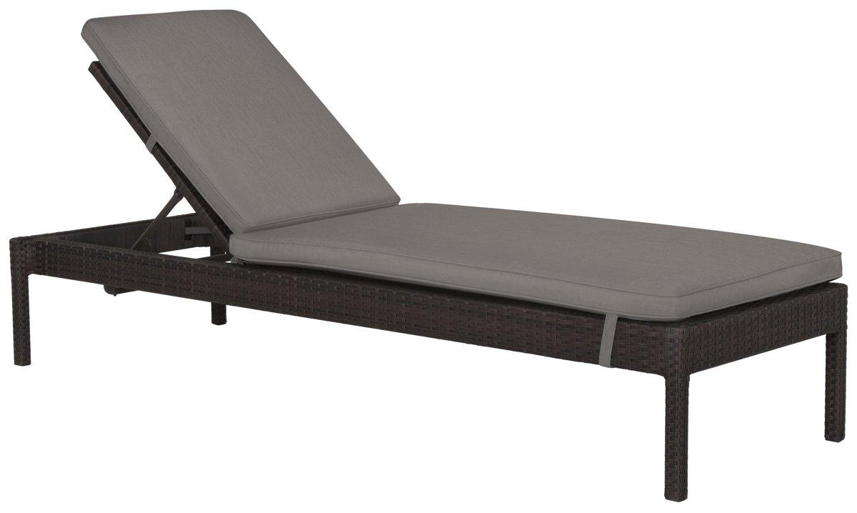 Zen Gray Cushioned Chaise