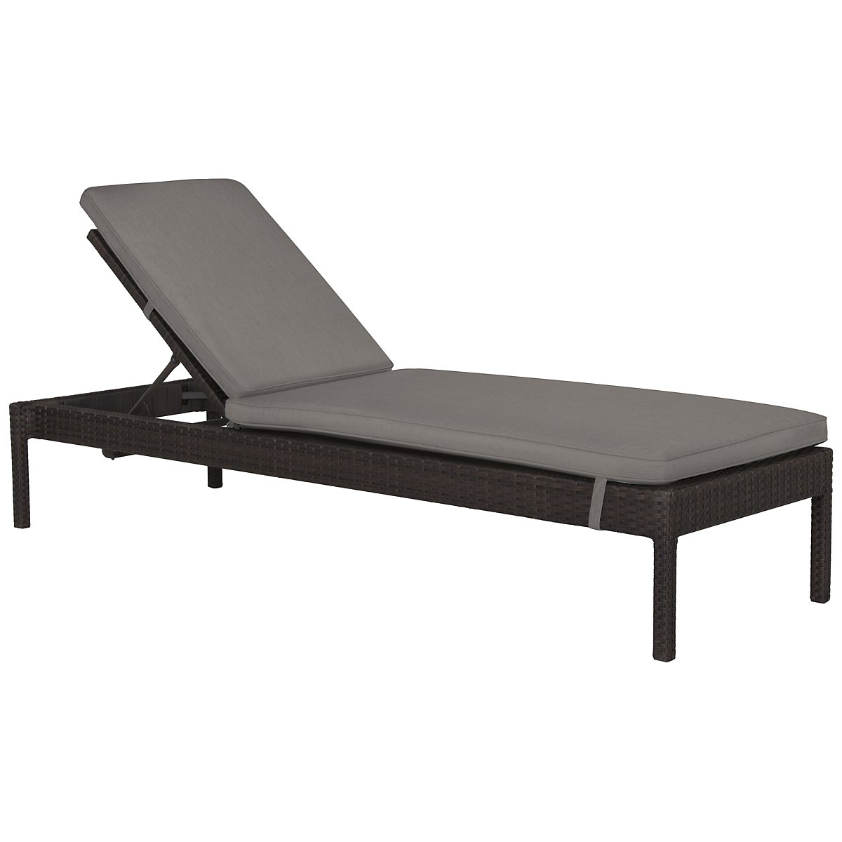 Zen Gray Cushioned Chaise