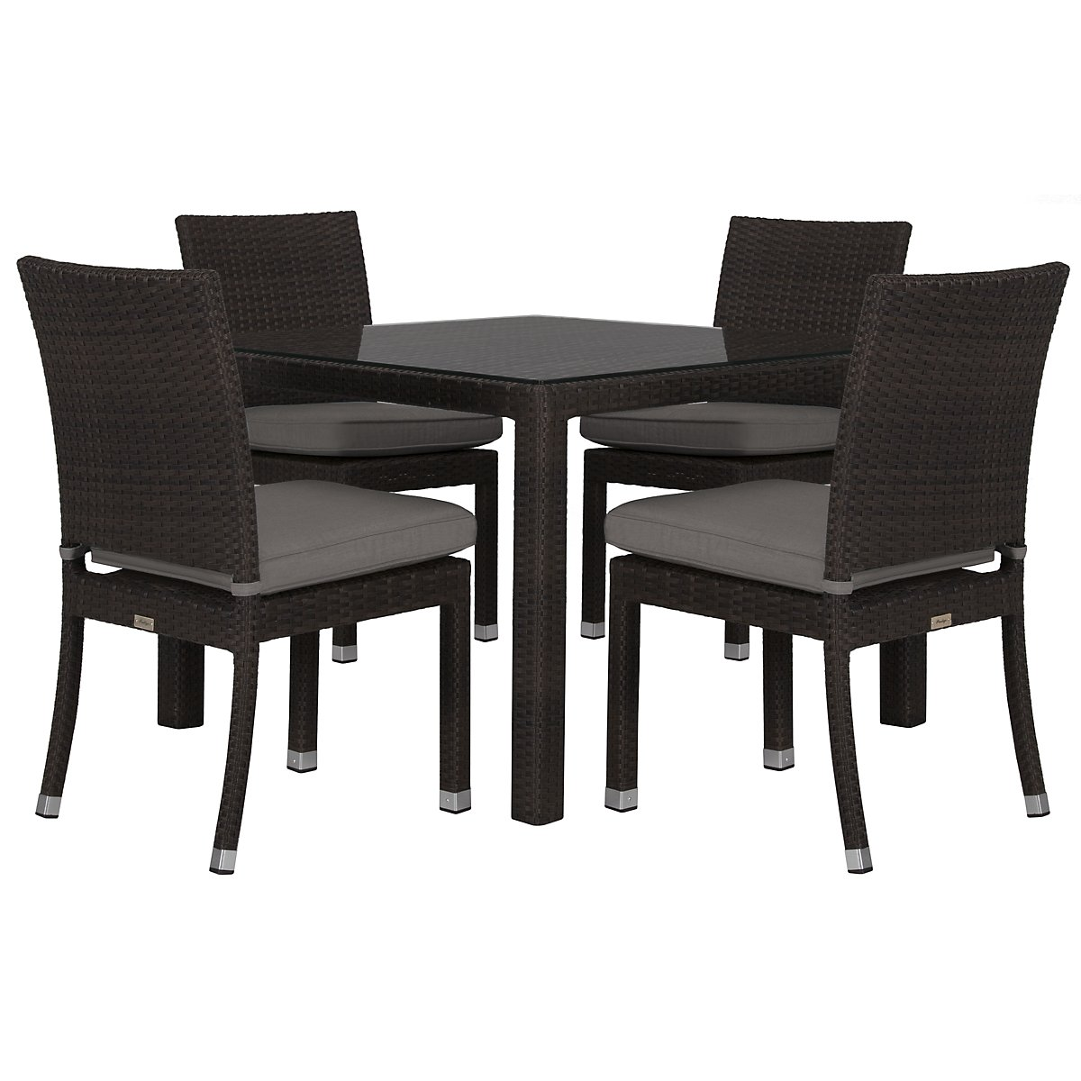 City furniture zen gray 40 square table 4 chairs zen gray 40 square table 4 chairs watchthetrailerfo