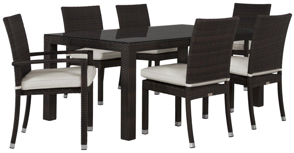 "Zen White 72"" Rectangular Table & 4 Chairs"