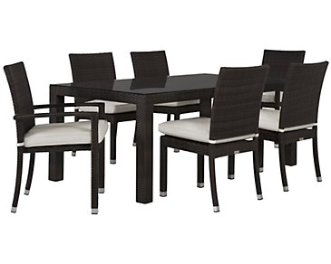 "Zen White 72"" Rectangular Table & 4 Chairs"