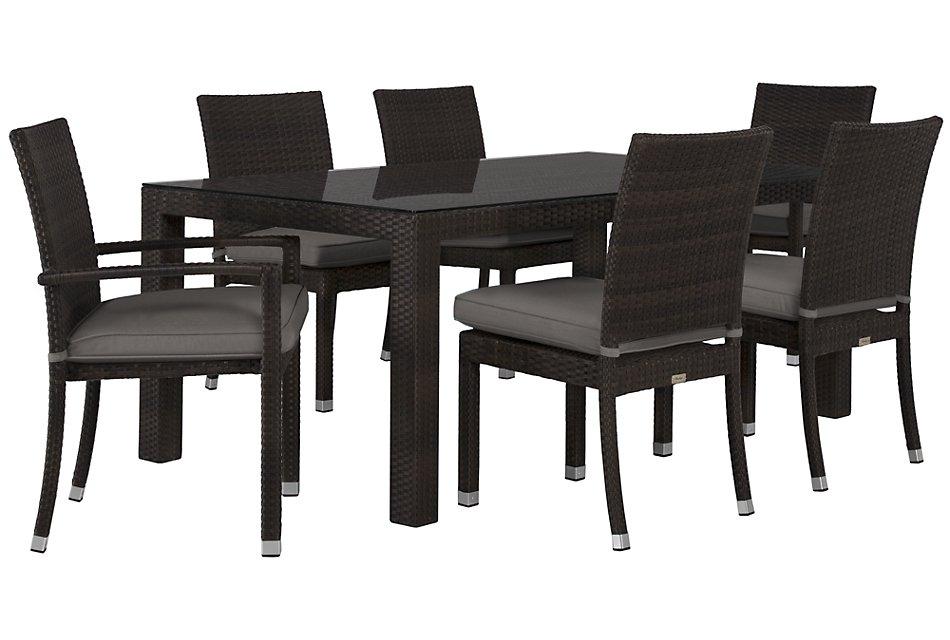 "Zen Gray 72"" Rectangular Table & 4 Chairs"