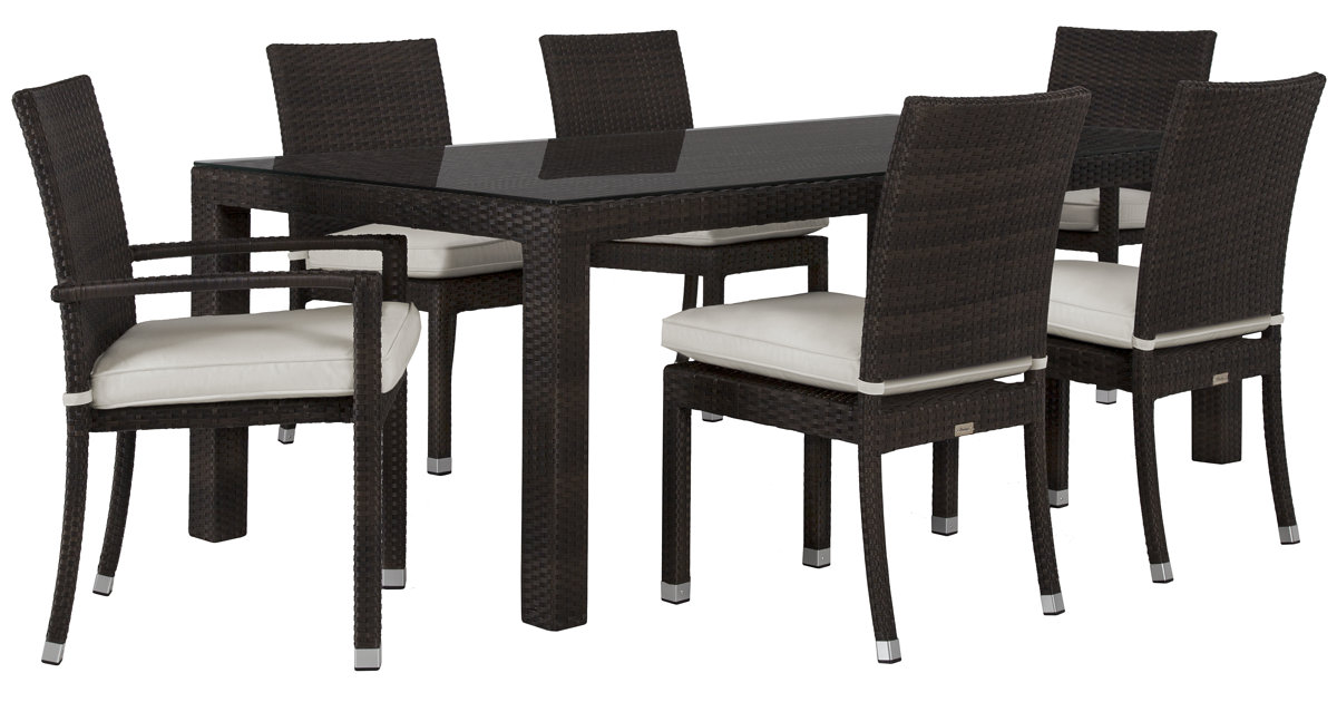 City Furniture Zen White 84 Rectangular Table 4 Chairs