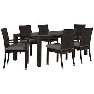 "Zen Gray 84"" Rectangular Table & 4 Chairs"
