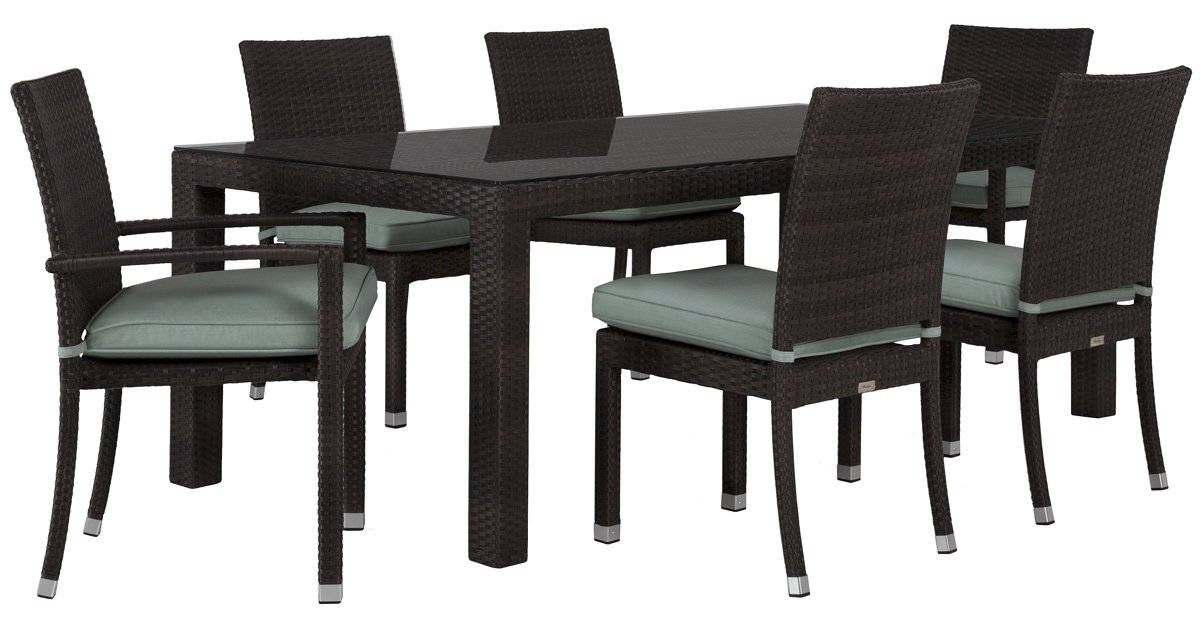 City Furniture Zen Teal 84 Rectangular Table 4 Chairs