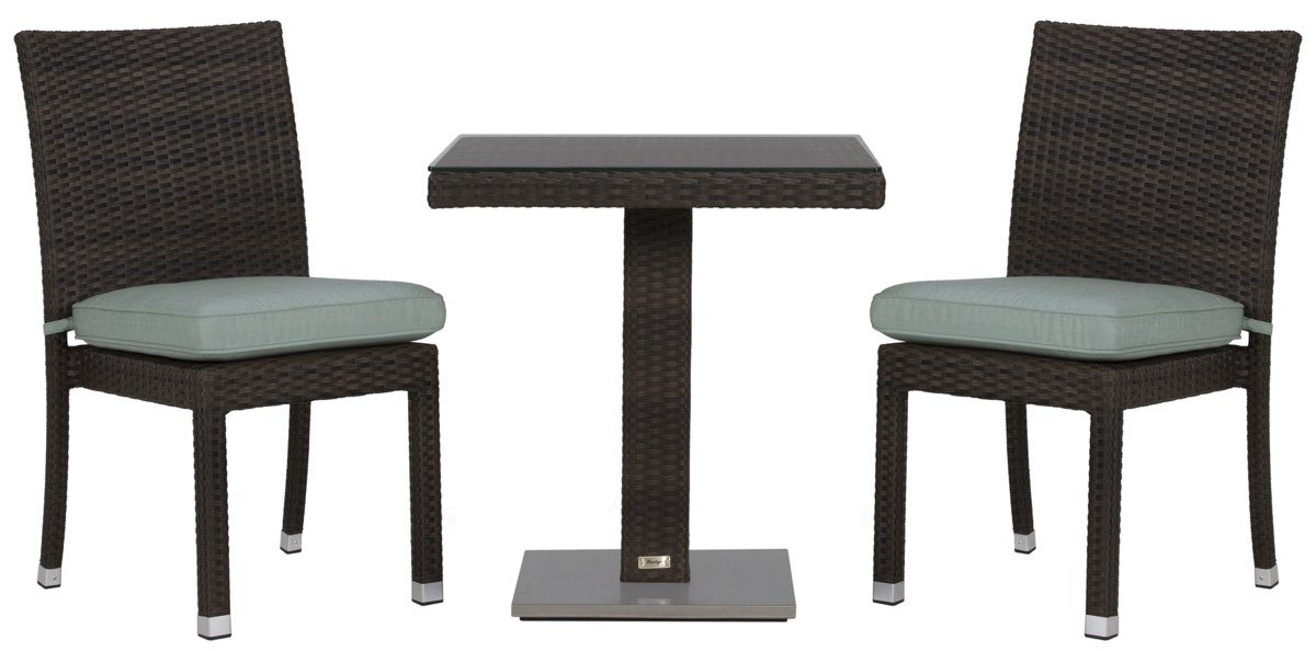 "Zen Teal 27"" Square Table & 2 Chairs"