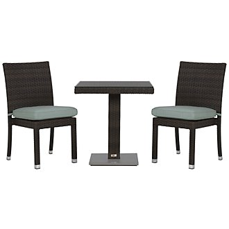 """Zen Teal 27"""" Square Table & 2 Chairs"""