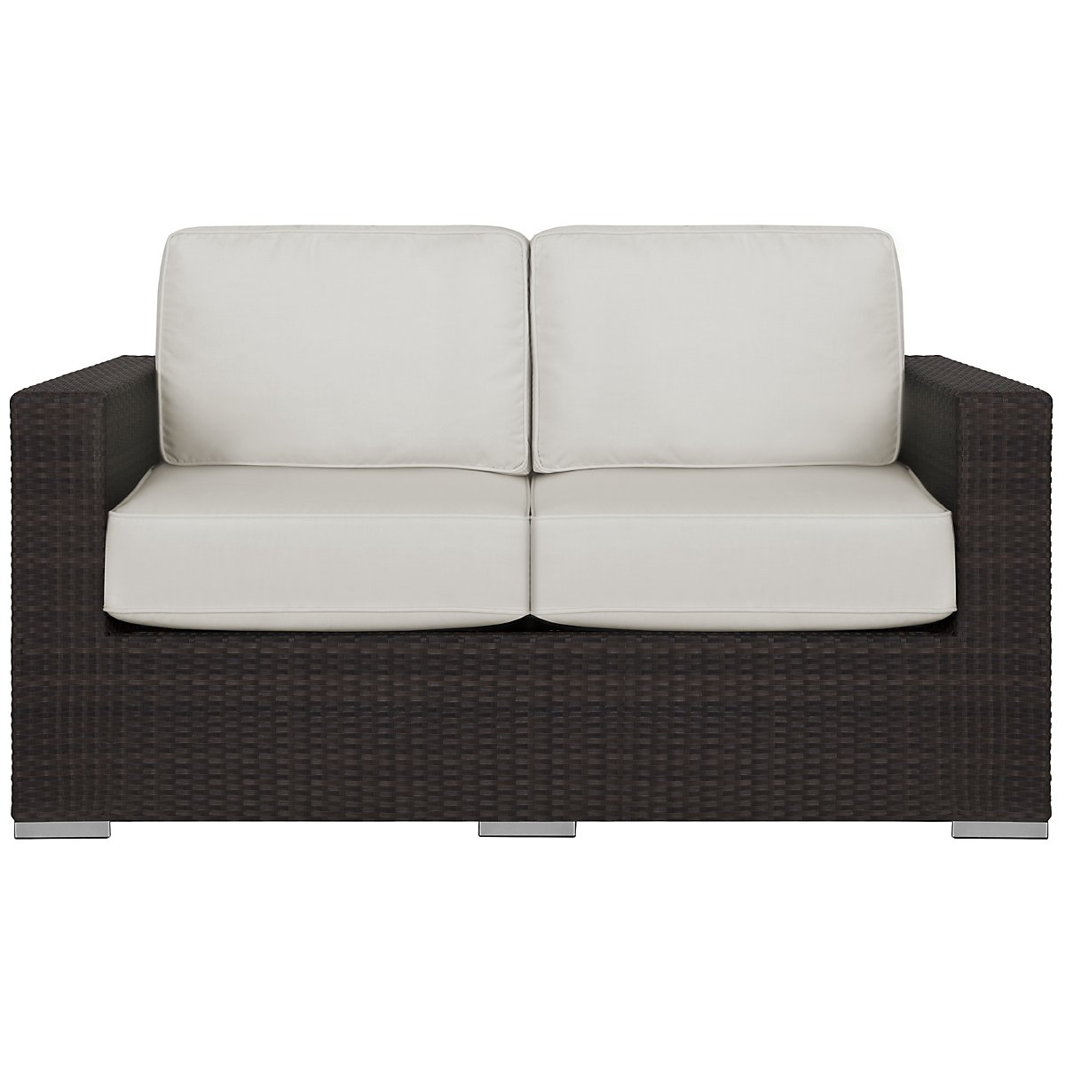 Fina White Loveseat