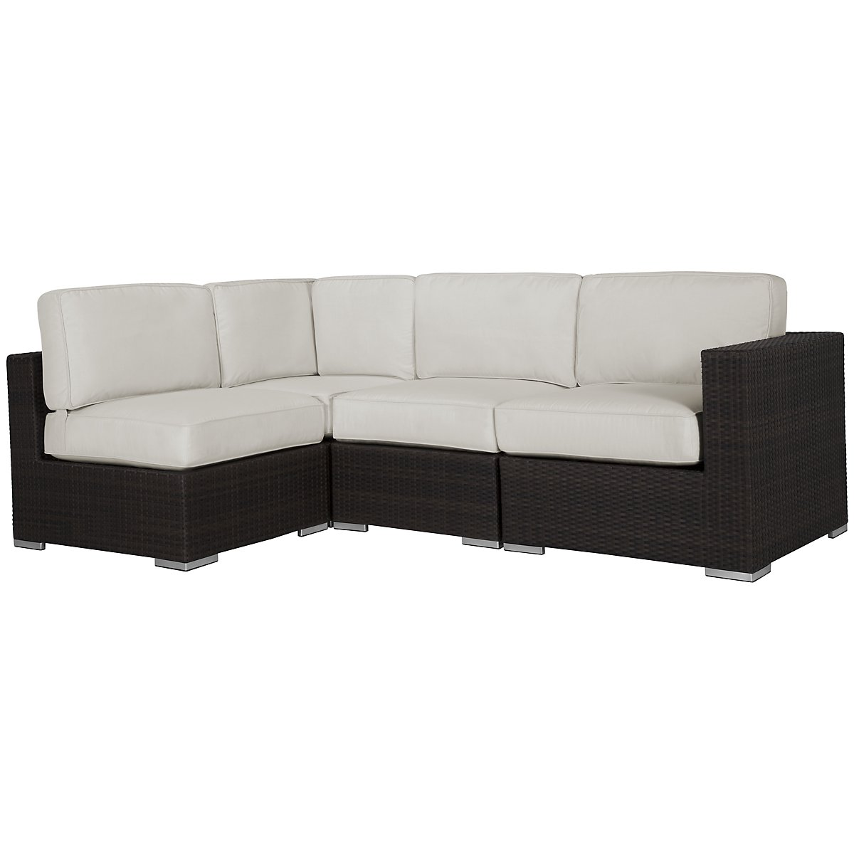 Fina White 4-Piece Modular Sectional