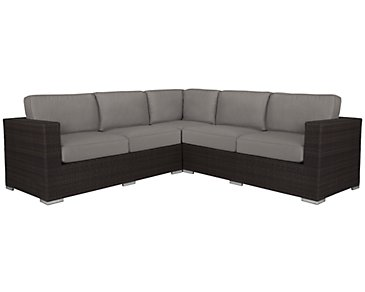 Fina Gray Small Two-Arm Sectional