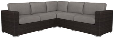 Fina Gray Small Two Arm Sectional