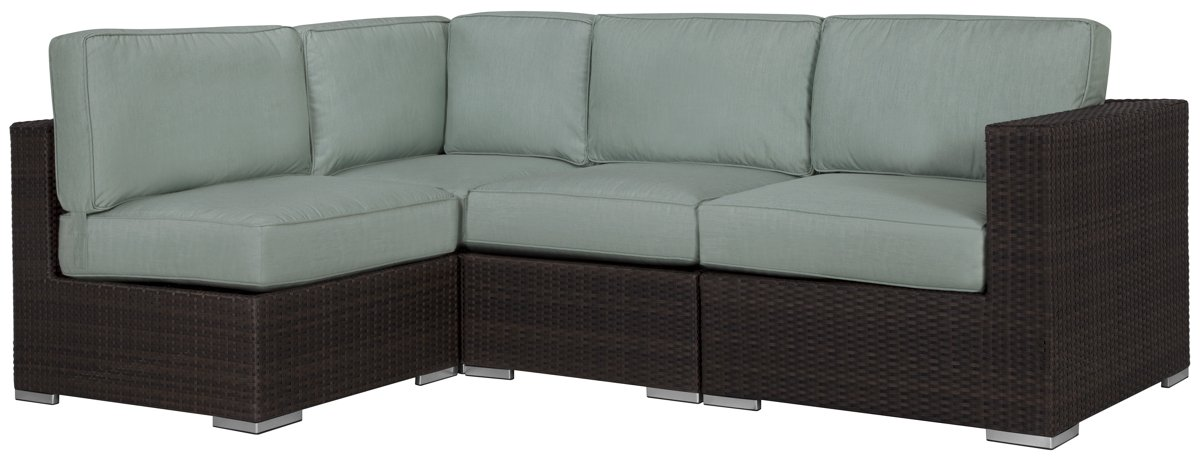 Fina Teal 4-Piece Modular Sectional