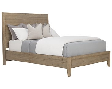 Casablanca Light Tone Panel Bed