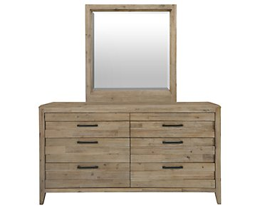 Casablanca Light Tone Dresser & Mirror