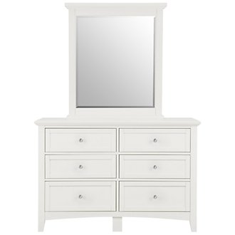 Captiva White Small Dresser & Mirror