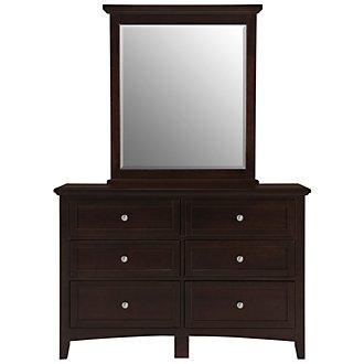 Captiva Dark Tone Small Dresser & Mirror