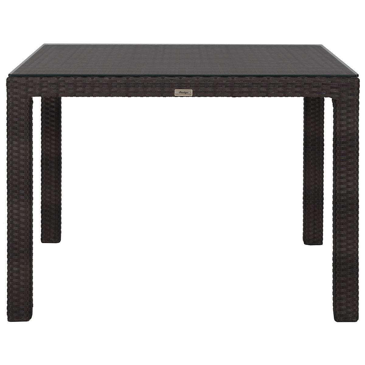 Zen Dark Tone Woven Square Table