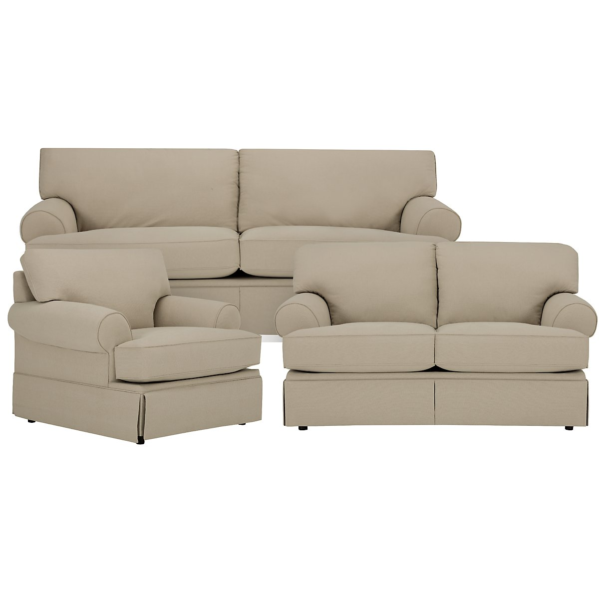 Kylie Dark Taupe Cotton Living Room
