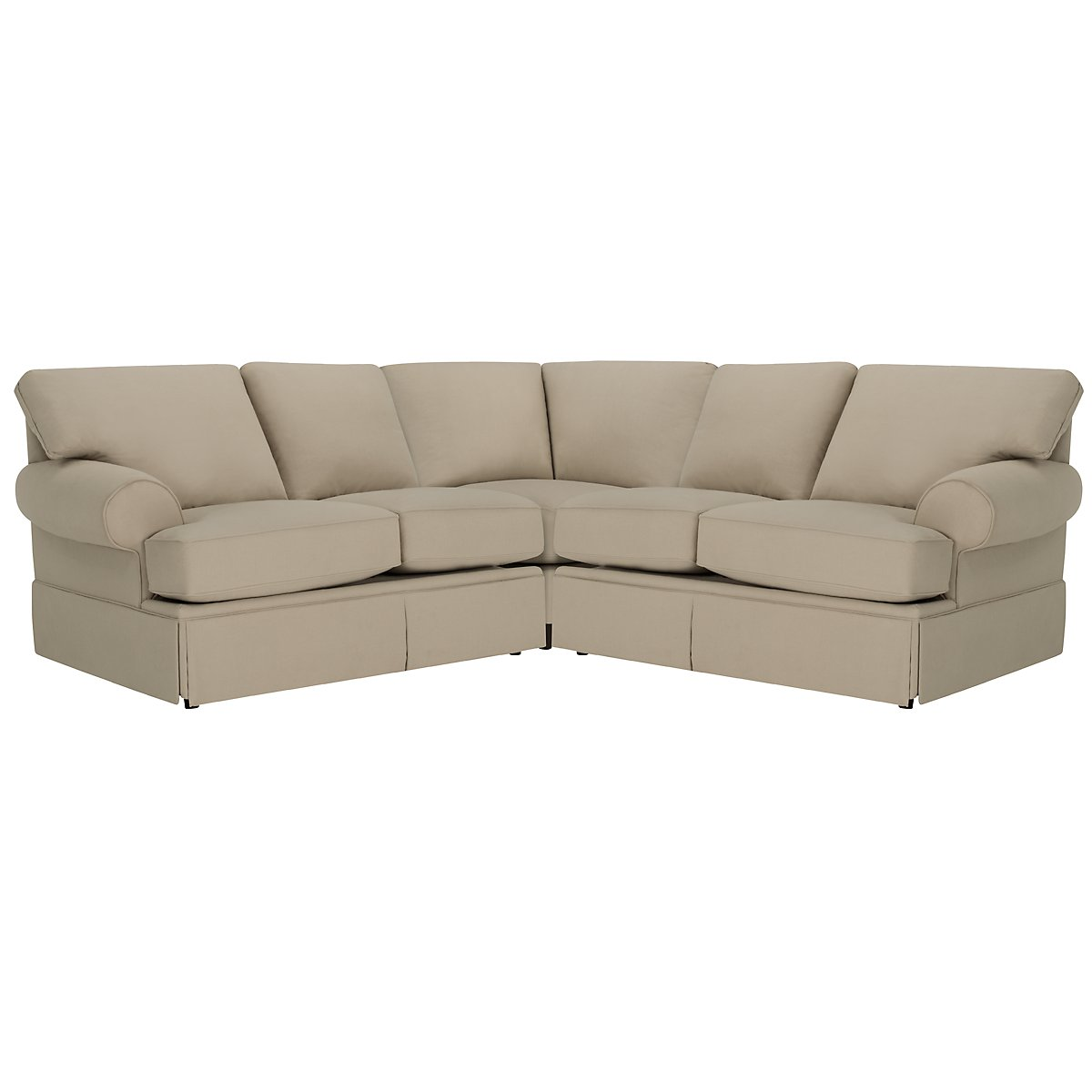 Kylie Dark Taupe Cotton Small Two-Arm Sectional