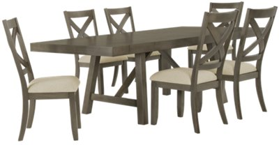 Omaha Gray Rectangular Table