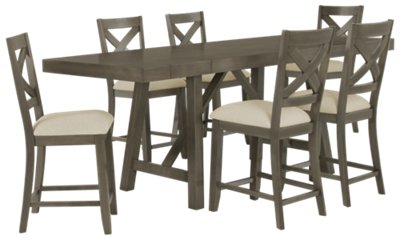 Exceptional Omaha Gray High Dining Table