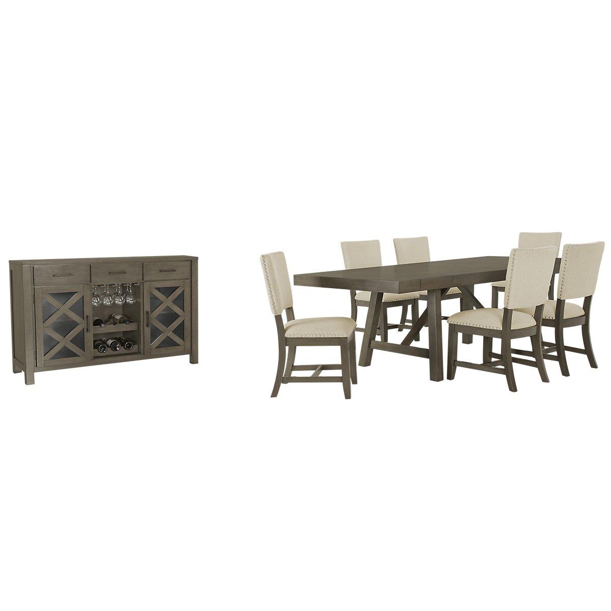 Omaha Gray Rectangular Dining Room