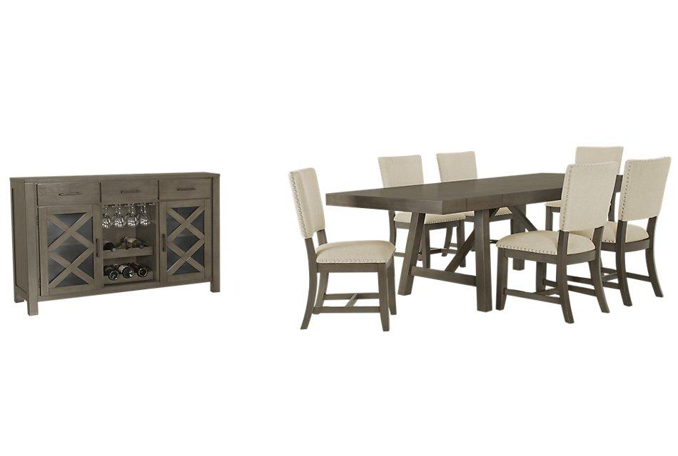 Omaha Gray Rect Dining Room
