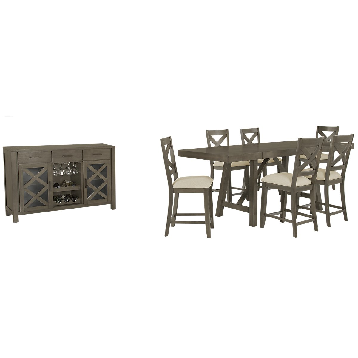 Omaha Gray High Dining Room