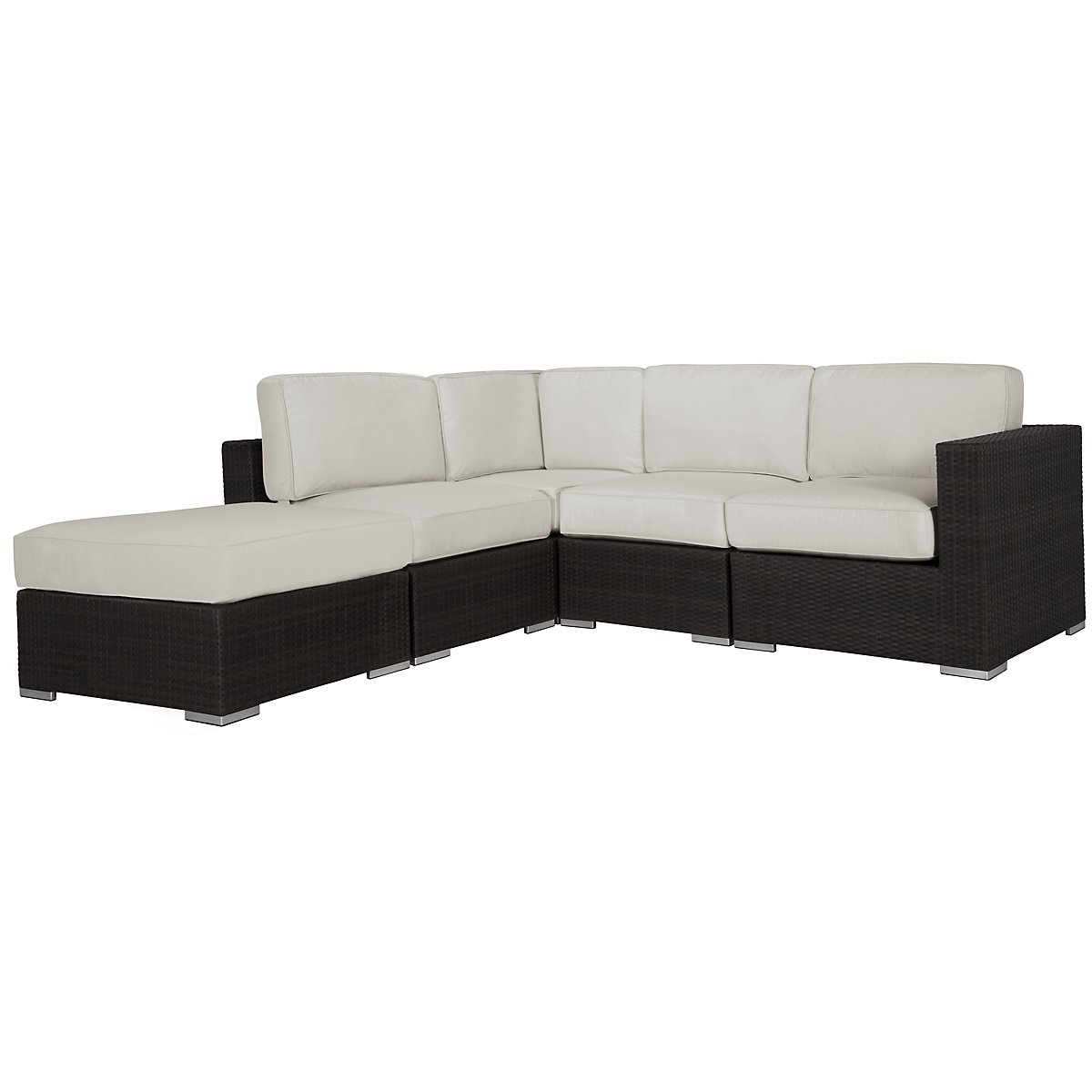 Fina White 5-Piece Modular Sectional