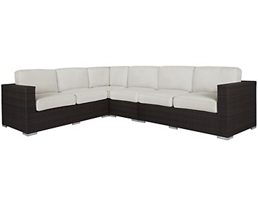 Fina White Large Two-Arm Sectional