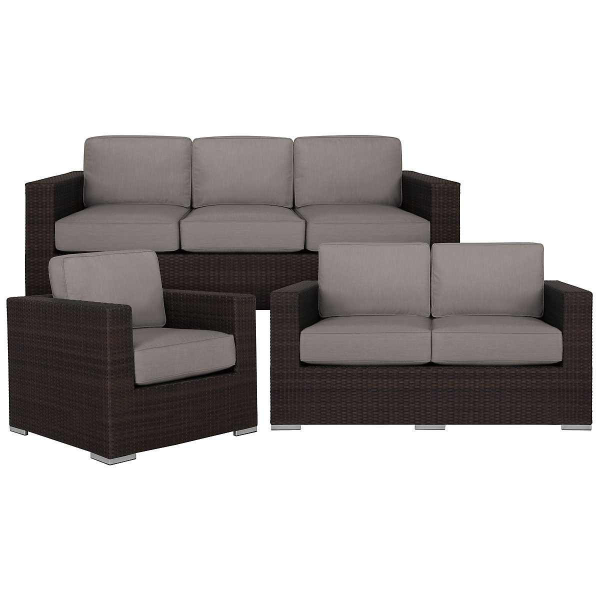 Fina Gray Outdoor Living Room Set
