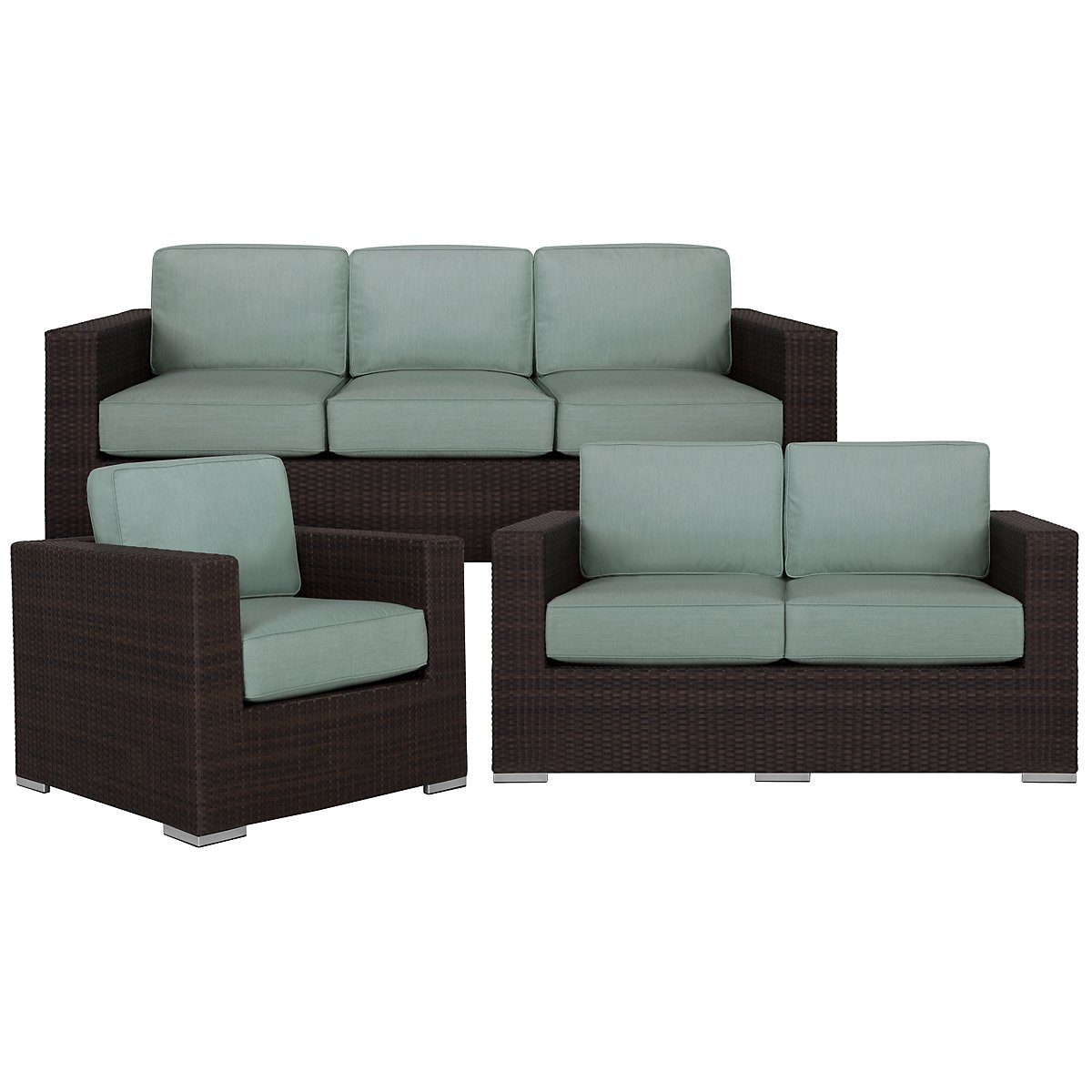 City Furniture Fina Teal Loveseat