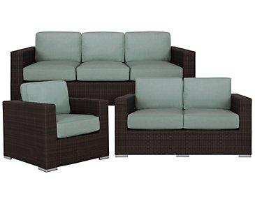 Fina Teal Outdoor Living Room Set