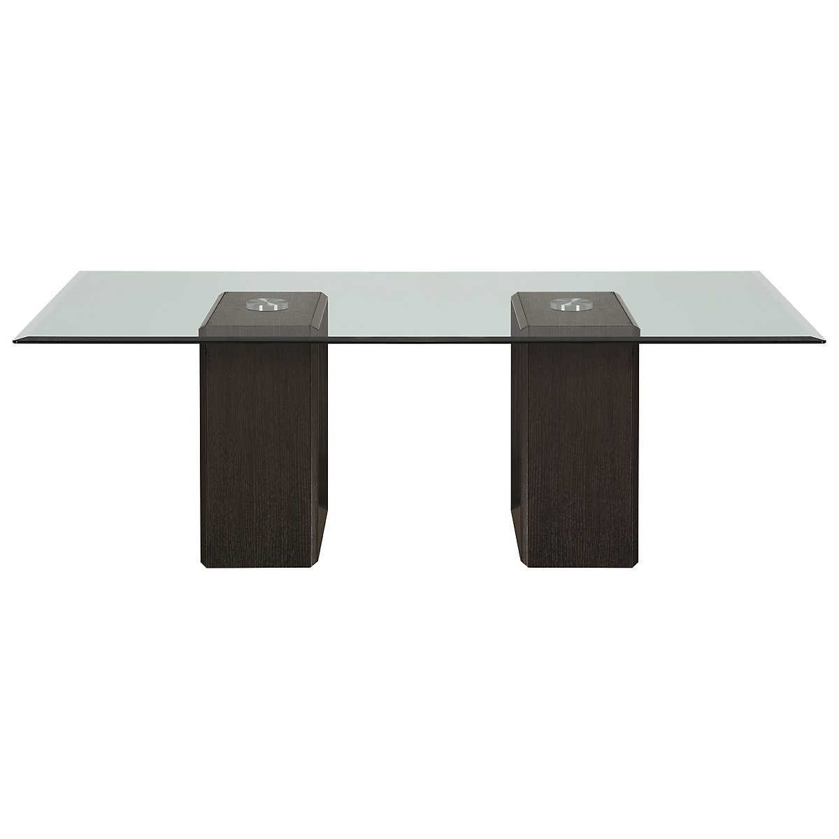 Adele2 Dark Tone Glass Coffee Table