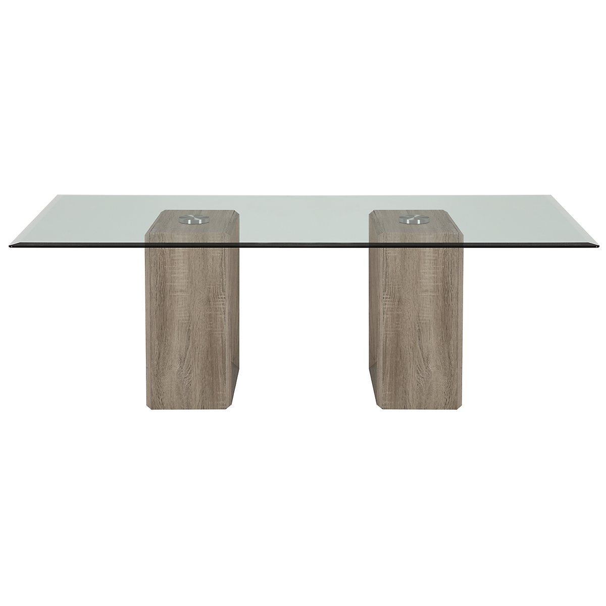 City Furniture Adele2 Light Tone Glass Coffee Table