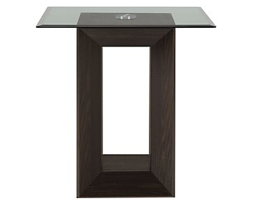Adele2 Dark Tone Glass End Table
