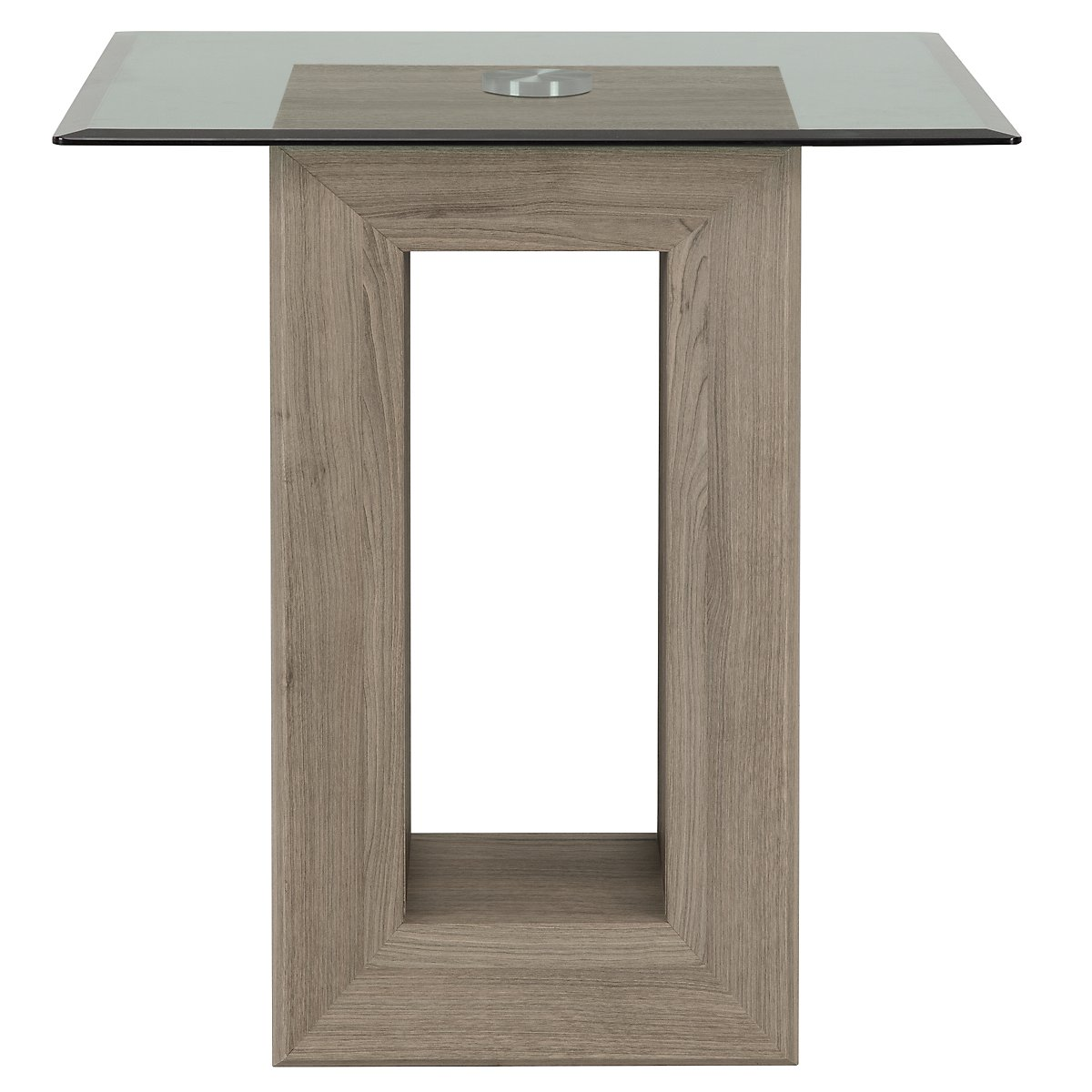Adele2 Light Tone Glass End Table