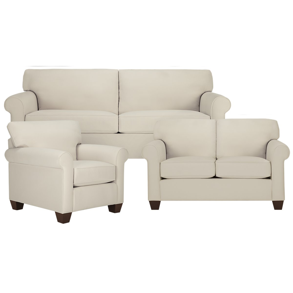 Corlis Light Beige Fabric Living Room