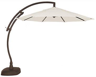 Cayman White Cantilever Umbrella Set