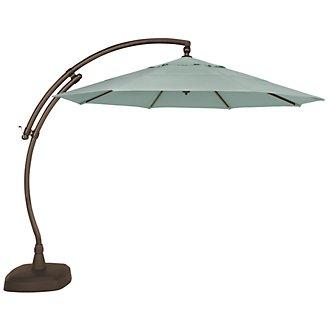 Cayman Teal Cantilever Umbrella Set