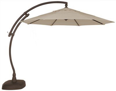 cayman khaki cantilever umbrella set