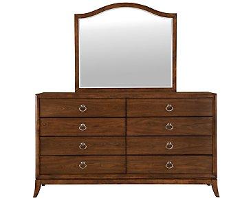 Savoy Mid Tone Dresser & Mirror