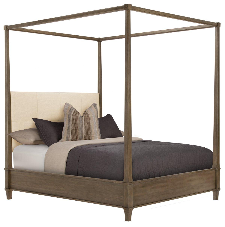 city furniture: preston gray canopy bed