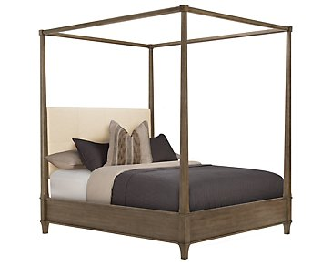 Preston Gray Canopy Bed