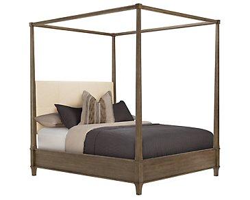 Preston Gray Canopy Bed