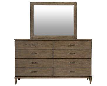 Preston Gray Dresser & Mirror