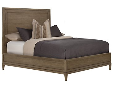 Preston Gray Wood Platform Bed